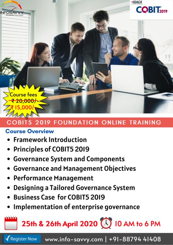 COBIT5 2019 Foundation,Training