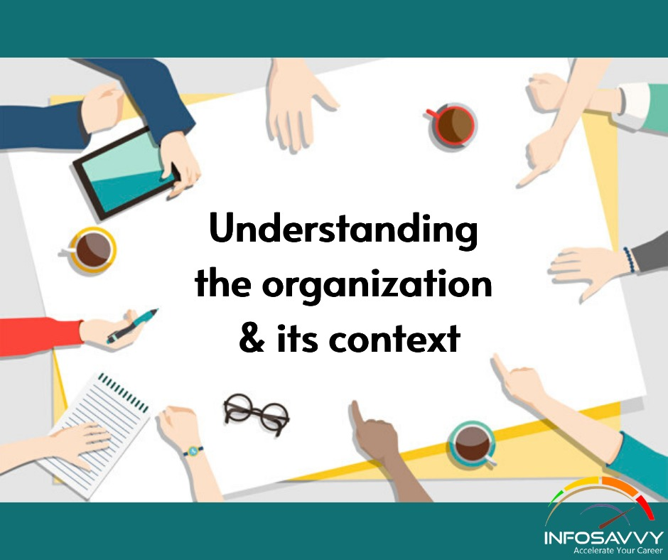 Understanding the organization -infosavvy