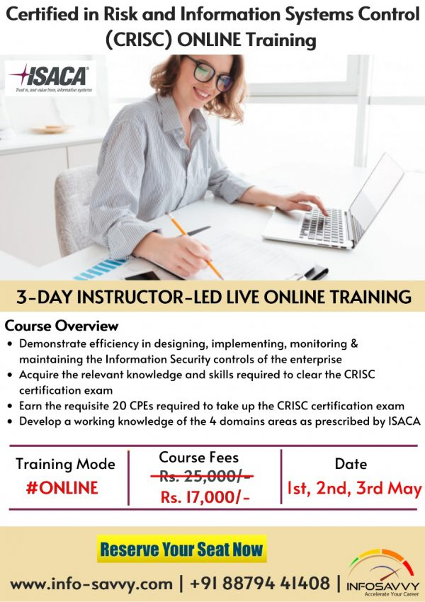 CRISC training with certification