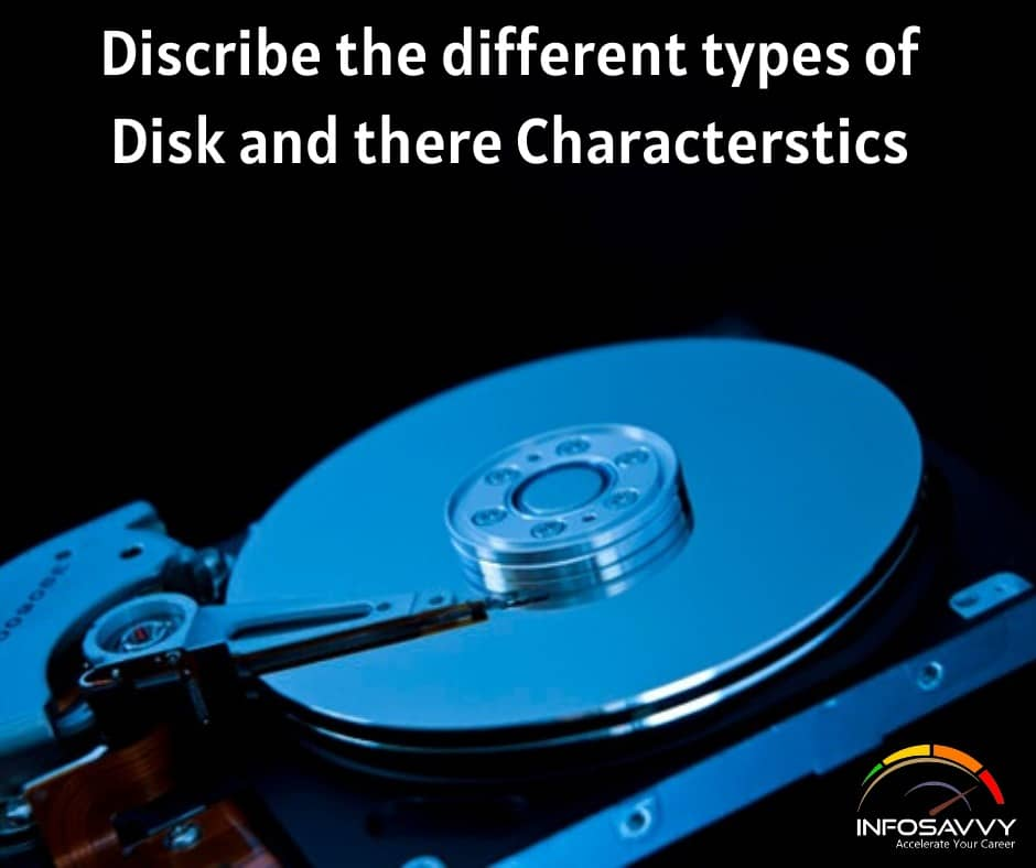 Discribe-the-different-types-of-Disk-and-there-characterstics